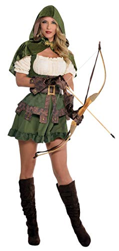 AMSCAN Lady Robin Hood Halloween Costume, Medium, with Included Accessories ()