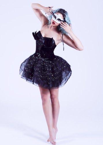 Gótico bailarina negro cisne disfraz Small (UK 8 – 10): Amazon.es ...
