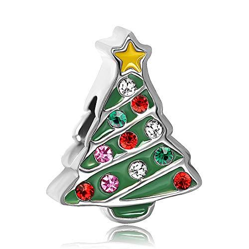- LovelyJewelry Daisy Jewelry Christmas Tree Gifts Charms Bead for Snake Chain Bracelets (Green Christmas Tree)