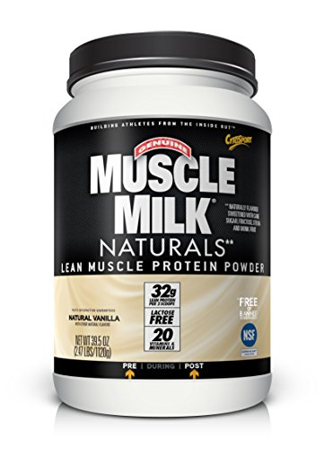 Vanilla Natural - Muscle Milk Naturals Protein Powder, Natural Vanilla, 32g Protein, 2.47 Pound ( Packaging may vary )