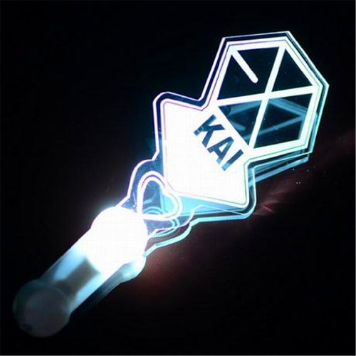 EXO Kpop Light stick Official style Fans support of vocal concert + 2 Pieces of EXO silicon wristband (Kai)