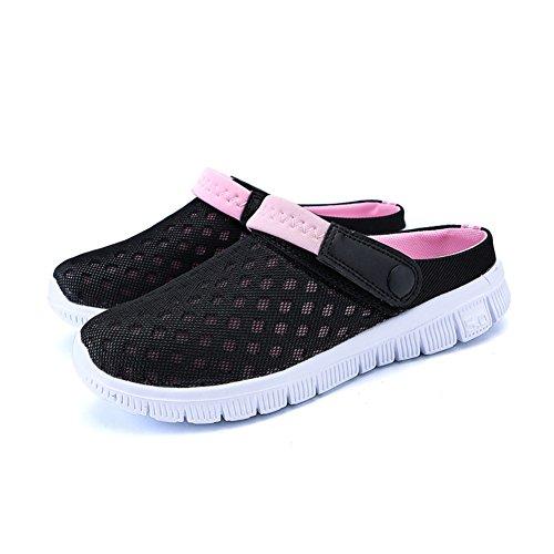 Parejas Slip Flop on FOBEY Malla Mujeres Sandalias Rosa Flip Transpirable Hombres de Zapatos Deporte w7x8UBq