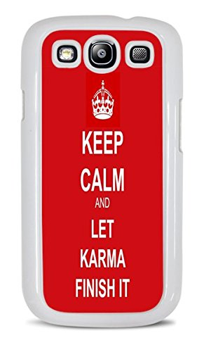 Trendy Keep Calm Phone Case White Hardshell Case for Samsung Galaxy S3