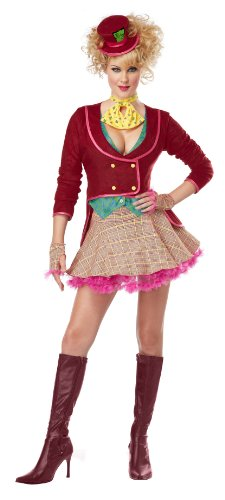California Costumes Women's The Mad Hatter Adult, Multi, Large (Sexy Mad Hatter Costumes)