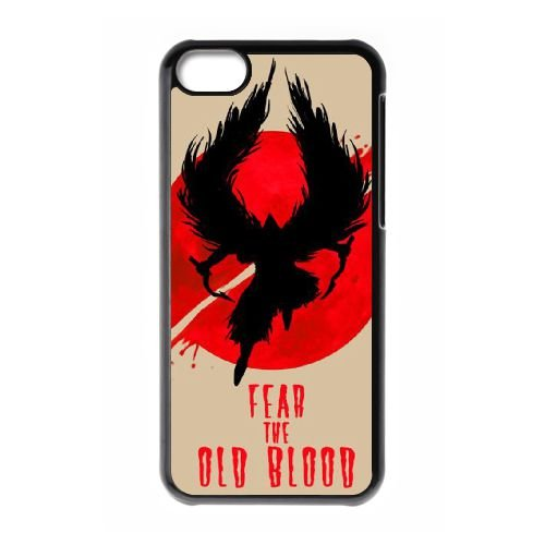 Bloodborne YF24LV8 coque iPhone Téléphone cellulaire 5c cas coque A1KG1D8RB