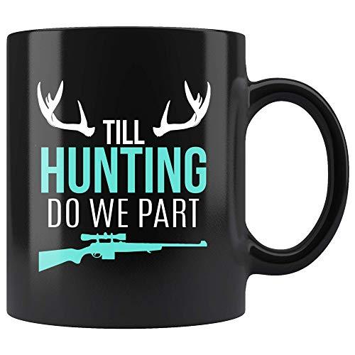 Funny Wedding Hunting Gift Hunter Redneck Groom Vow - 11oz Black Mug deer elk duck bear coyote pheasant coon turkey bird Gift -
