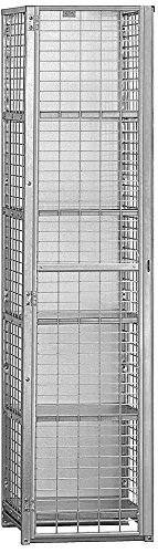 Salsbury Industries Assembled Security Cage Storage Locker, Standard