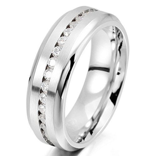 INBLUE Stainless Eternity Wedding Promise