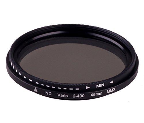 Mactrem 49mm Slim Fader Variable ND Filter Adjustable ND2 to ND400 Neutral Density