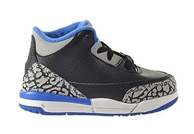 3c2c350333a ... usa jordan 3 retro bt baby toddlers shoes black sport blue wolf grey  832033 f22e5 06018