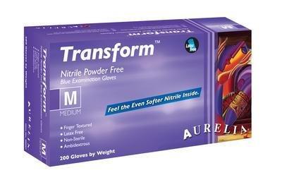 Supermax Healthcare 98896 Aurelia Transform Exam Glove, Finger Textured, Small Size, Nitrile (Pack of 2000)