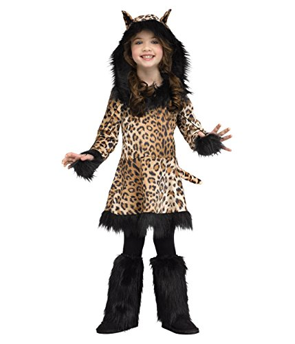 [Little Girls' Natural Leopard Print Costume - Toddler (3T-4T)] (Leopard Print Fancy Dress Costumes)