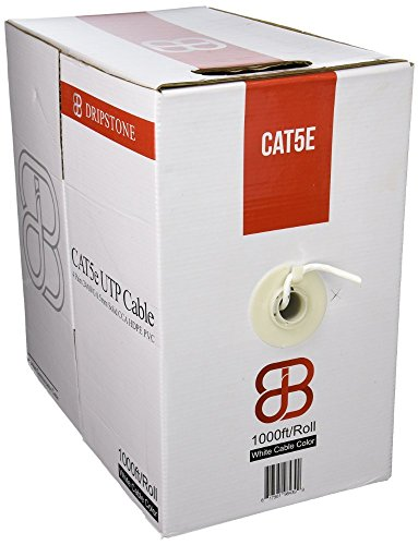 Dripstone Premium 1000ft Cat5e Solid UTP Ethernet Cable in B