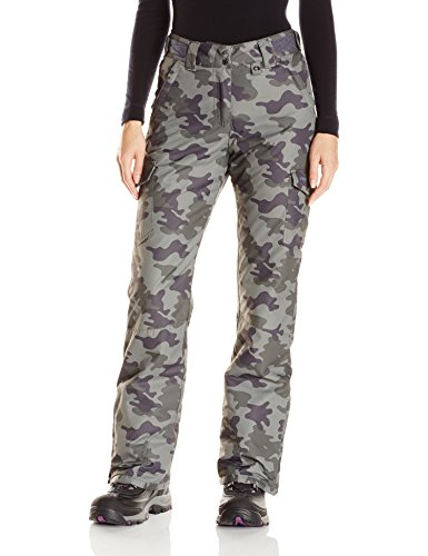 Arctix Women's Snowsports Cargo Pants, Green Camo, Medium