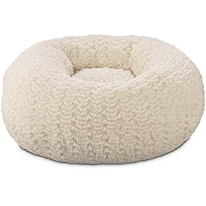 """You & Me Cream Pouf Cat Bed, 18"""" D on sale"""