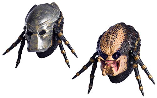 Rubies Costume Co Aliens vs predator requiem with deluxe overhead predator mask, Gray, One size