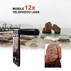 12X Telephoto Manual Focus Telescope Phone Camera Lens for iPhone 5/5S (Assorted Color) , White