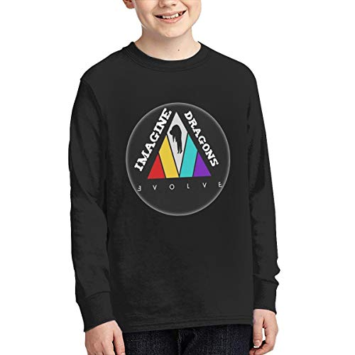 Youth Round Neck Long Sleeve T-Shirt Imagine Dragons Personality Street Trend Creation Black M