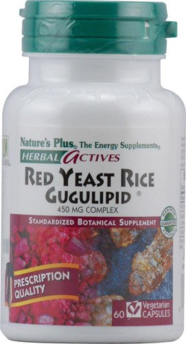 Nature's Plus Herbal Actives Red Yeast Rice Gugulipid® -- 450 mg - 60 Vcaps® - 3PC