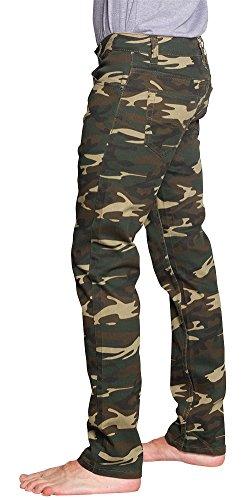 Victorious Men's Camo Skinny Jeans AR169 - KHAKI/CAMO - 32/32