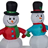 Lightshow Musical Snowmen Inflatable Holiday Inflatables