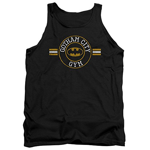 Batman Gotham City Gym Officially Licensed Adult Tank Top ()