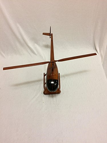 Wood Art USA R-44 Raven Replica Helicopter Model Hand Crafted with real Mahogany (Mahogany Model Aircraft)