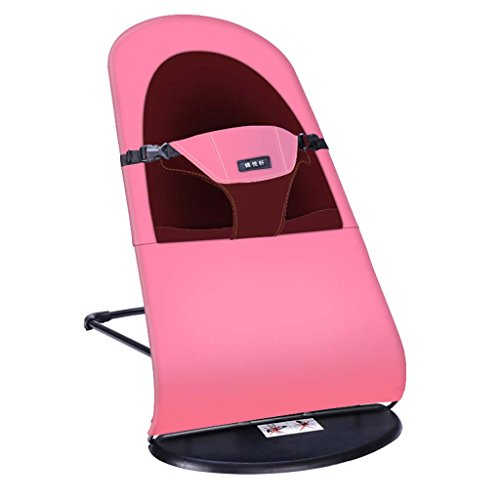Baby Bouncer - Baby Swing Chair And Cradle Baby Chair The Children's Bouncing Cradle Is Suitable For Newborns 0-24 Months,Cottonpink