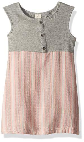 (Roxy Girls' Little Sun and Waves Yarn Dyed Tank Dress, Cloud Pink MULTISTRIPES Youth, 6 )