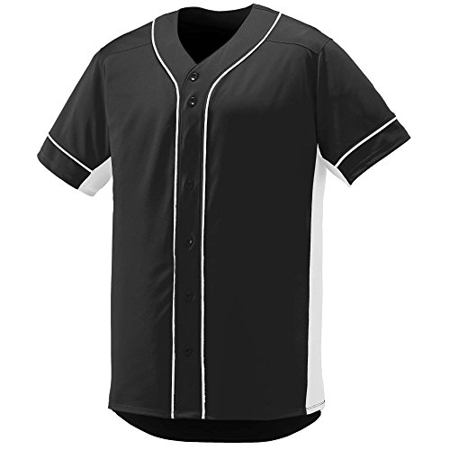 Jersey Softball On At (Augusta Sportswear Boys' Slugger Baseball Jersey M Black/White)