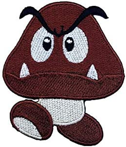 Amazon Com Goomba Patch Brown Mushroom Embroidered Iron On Badge