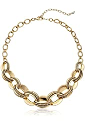 "Napier ""Gold Mine"" Gold-Tone 16"" Adjustable Frontal Necklace"