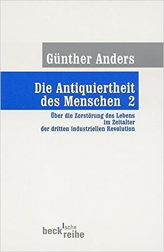 Book Die Antiquiertheit des Menschen 2. by G??nther Anders (2002-04-30)