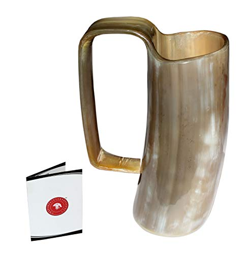 Stein Pimp Cup - Game of Thrones drinking mug Handcrafted Ox Cup Goblet - Drink Mead & Beer Like Game of Thrones Heroes With This Large Ale Stein - Great Craftsmanship (16ozsq)