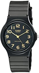 Casio Men's MQ24-1B2 Watch with Black Resin Band