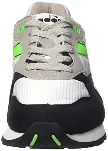 Diadora N-92 - Zapatillas Unisex adulto Blanco / Verde Flúor