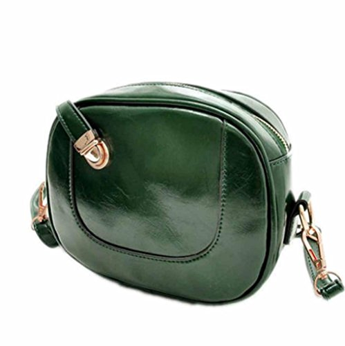 Multi-Color Full Fashion Womens Mini Shoulder Bag Case Organizer Purse Wallet-Green