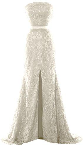 Party Women MACloth Mermaid Gown Formal Dress Prom Wedding Strapless Elfenbein Evening R77qYw