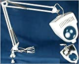 SE MC327W 110V Desk Lamp with Illuminated Magnifier, 26'' x 8'' x 4'', White