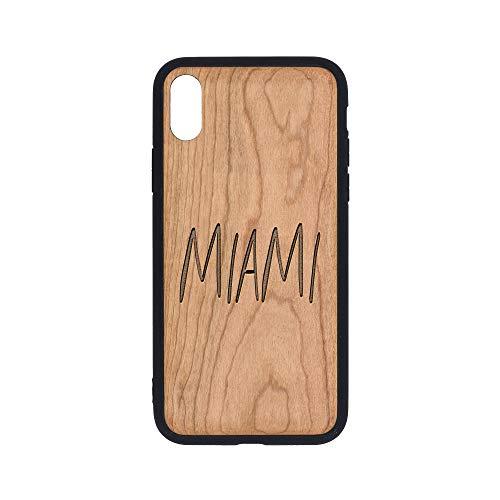 ogo 4 - iPhone Xs Case - Cherry Premium Slim & Lightweight Traveler Wooden Protective Phone Case – Unique, Stylish & Eco-Friendly - Designed for iPhone Xs ()