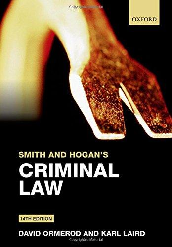 Smith and Hogan's Criminal Law