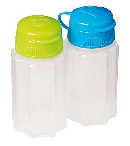 (Sistema To Go Collection Salt and Pepper Shakers, Assorted Colors, Set of 2)