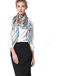100% Premium Silk Satin Scarf Square Extra Large Shawl Wrap Scarves 43in With Gift Packaging