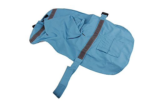 Size XXL Light Blue Color Pet Apparel Dog Clothes Dog Raincoat Pet Jacket Rain Pet Waterproof Coat Dog hoodies clothing by Wonder Pet Shop