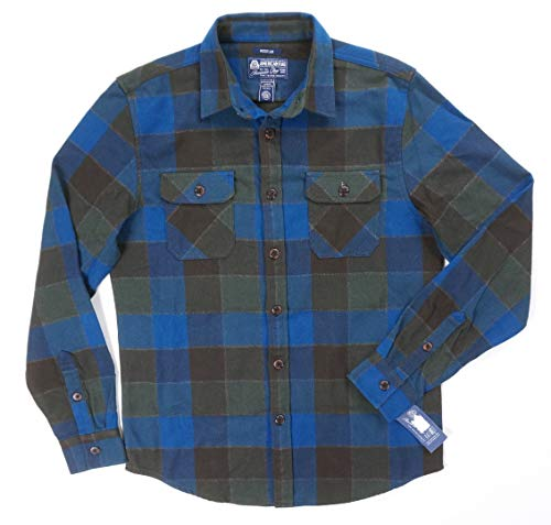 New American RAG Crater Lake Plaid Thick Brushed Twill Casual Shirt Jacket SZ M from AMERICAN RAG CIE