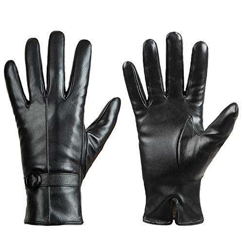 Smooth Sailing Costumes - Womens Winter Leather Touchscreen Texting Warm Driving Lambskin Gloves 100% Pure