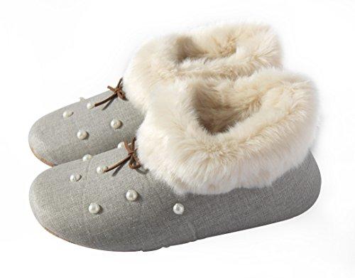 i-baby - Zapatillas de estar por casa para mujer gris