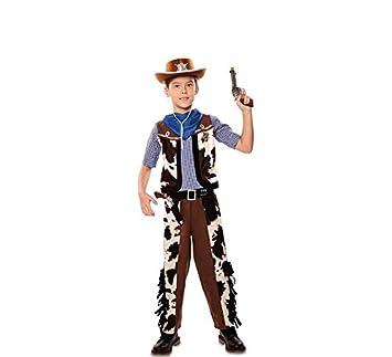 Disfraz de Vaquero con estampado vaca para niño: Amazon.es ...