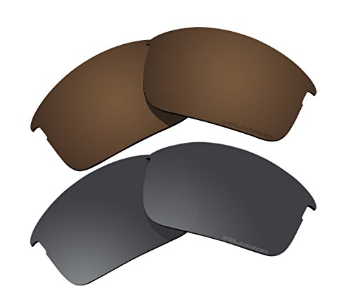 12c0b04d5b 2 Pairs Polarized Lenses Replacement Brown   Black for Oakley Bottle Rocket  Sunglasses - Buy Online in UAE.