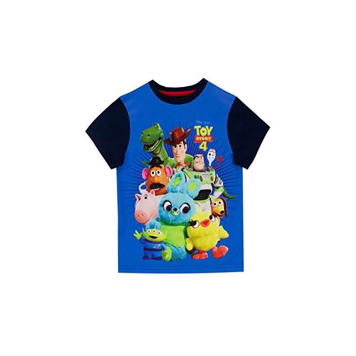 41OLGU4uUmL Camiseta para niños de Toy Story. Ya sea que tu pequeño quiera ser un vaquero o un guardián espacial, este estará muy feliz de usar esta camiseta de Toy Story. Frente: Panel 100% poliéster, espalda y mangas 100% algodón.